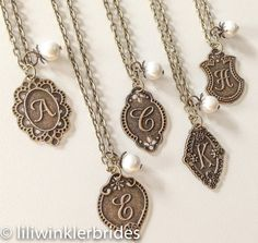 Reserved for Michelle - Monogram Necklaces via Etsy