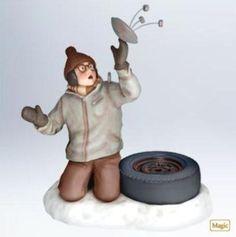 Hallmark 2011 Oh Fudge ! Christmas Story Movie MAGIC Ralphie Ornament w/ SOUND