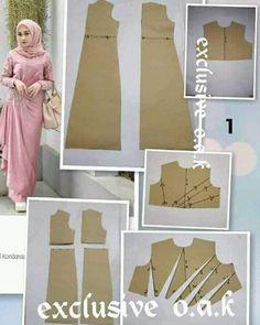 Long Dress Patterns, Dress Sewing Patterns, Blouse Patterns, Clothing Patterns, Kaftan Pattern, Pattern Draping, Pattern Drafting Tutorials, Sewing Tutorials, Fashion Desinger