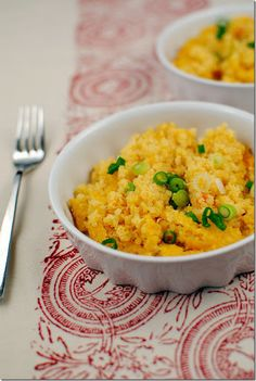 Quinoa Mac and Cheese - sub with Vegan cheddar and almond milk for dairy free people!