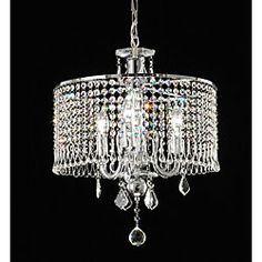 Contemporary 3-light Crystal Chandelier | Overstock™ Shopping - Great Deals on Chandeliers