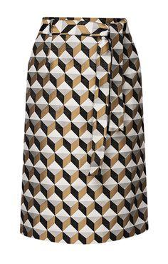 Юбка-трапеция с геометричным принтом Cavo / 2000000149707-1 Midi Skirt, Skirts, Clothes, Fashion, Outfits, Moda, Midi Skirts, Clothing, Skirt