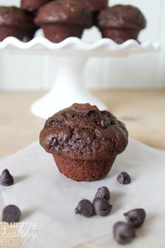 Chocolate Mini Muffins with Chia Seeds. My revisions. All whole wheat flour, and subbed coconut oil for canola oil. ( used 1 tbsp size scoop. Made 67 muffins. 57 calories per muffin) Chocolate Muffins, Healthy Chocolate, Chocolate Chips, Mini Muffins, Muffin Recipes, Baking Recipes, Cod Recipes, Noodle Recipes, Bean Recipes