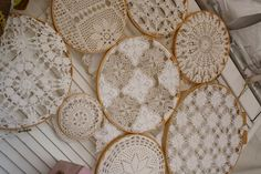 Love this use of old doilies!