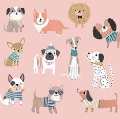 dog illustration After years of wanting to get a dog, and debating which breed to get because of the awkwardness of our inner city house, we have finally Illustration Cartoon, Illustration Simple, Cute Animal Illustration, Posca Art, Motifs Animal, Guache, Dog Art, Cute Drawings, Cute Dogs