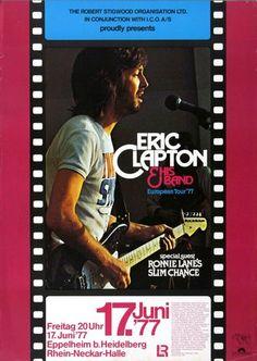 Eric Clapton - Slowhand 1977 - Poster Plakat Konzertposter