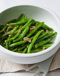 Fresh string beans play in the new season with a carefully orchestrated medley of Dijon glaze.