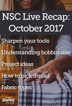 Join us for another installment in our NSC Live series with the wonderfully talented Nicki LaFoille. Nicki answers your sewing questions in this interactive and informative Q&A.