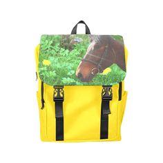 Horse and Grass Casual Shoulders Backpack. #FREEShipping #artsadd #lbackpacks #horses