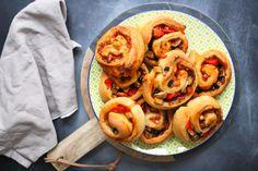 vegane pizzaschnecken schnell fettarm gesund party pizza rezept
