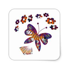 Caterpillar Into Stunning Butterfly Square Sticker - graduation stickers grad sticker idea unique customize diy Graduation Stickers, Graduation Gifts, Diy Stickers, Caterpillar, Celebration, Butterfly, Gift Ideas, Unique, Party