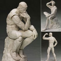 Figma SP-056b The Thinker Plaster Ver. from The Table Museum  Now available in stock from: http://www.figurecentral.com.au/products/figma-sp-056b-the-thinker-plaster-ver-from-the-table-museum-action-figure-max-factory-in-stock?variant=16816581953  #figma #thethinker #Rodin #maxfactory #figurecentral