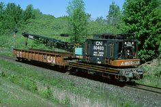 CN 50483 Crane  Canadian National Railway  Assigned Great Lakes 1991
