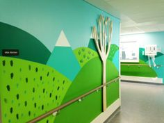 Donna Wilson and her team create an installation and mural in one of the children's wards at the Royal London Hospital - these are photos of the work in progress! http://donnawilsonsblog.blogspot.co.uk/2014/05/update-on-vital-arts-royal-london.html