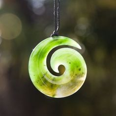"New Zealand Greenstone Koru Koru is the Maori name for the unfurling fern frond of New Zealand's silver fern. It is a symbol of new life, growth, strength and peace. The circular shape suggests perpetual movement while the inner coil maintains an anchor to the point of origin. It represents the sacred geometry of life, renewal and eternity. ""As one frond dies, another frond grows."""