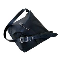 Cowhide Leather, Black Leather, Leather Shoulder Bag, Messenger Bag, Satchel, Artisan, Handmade, Bags, Accessories