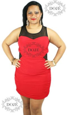 Sexy Plus Size Red Mesh Insert Sweetheart Bust Ruched Clubwear Fashoion Dress   eBay