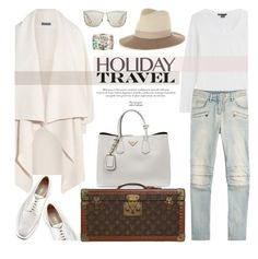 """Holiday Travel"" by stellaasteria ❤ liked on Polyvore featuring Alexander McQueen, Prada, Vince, Balmain, Louis Vuitton, rag & bone, Christian Dior and Chanel"