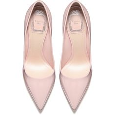 POWDER PINK PATENT CALFSKIN LEATHER PUMP, 10 CM ❤ liked on Polyvore featuring shoes, pumps, patent pumps, pink shoes, calfskin shoes, pink pumps and calfskin leather shoes