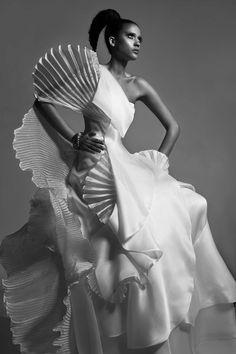 Iris Dress by Victoria KyriaKides Futuristic Grecian Bridal Collection. www.VictoriaKyriaKides.com #weddingdress #bridaldress