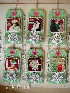Christmas tags - altered