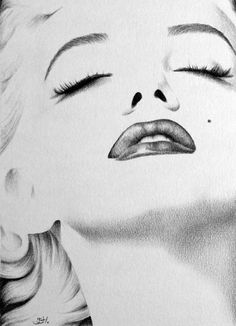 #Marilyn #Monroe drawing