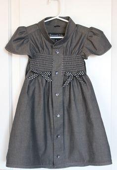 dress shirt to school dress refashion