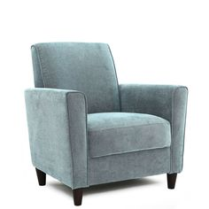 Enzo Solid-colored Accent Chair | Overstock.com Shopping - The Best Deals on Living Room Chairs