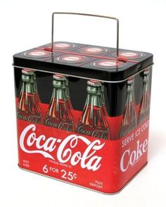 Coca-Cola Bottle Carrier Tin - Coca Cola - Idea of Coca Cola Coca Cola Vintage, Coca Cola Ad, Always Coca Cola, World Of Coca Cola, Coca Cola Bottles, Coca Cola Decor, Cocoa Cola, Bottle Carrier, Sodas