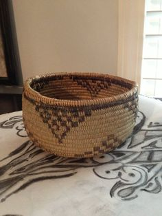 Antique Native American Mono Basket 1920's by SquarePegAntiques, $750.00