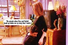 episode where Ross and Rachel break up makes me cry every time I watch it Friends Moments, Friends Tv Show, We Heart It, Good Movies, Amazing Movies, Ross And Rachel, Wow Facts, Himym, Tv Land