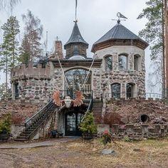 Castle -house by Reino Koivuniemi. Somero,Finland (For sale Dream Home Design, My Dream Home, House Design, Dream Homes, Future House, My House, Castle House, Finland, Exterior