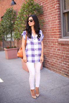 Laws of Layering  Rails Shirt | @gap jeans | Vintage Louis Vuitton Bag