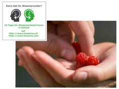 Keine Zeit für Wissenstransfer– 10 Tipps für WissensarbeiterInnen in Zeitnot Teil 2  Keine Zeit für Wissenstransfer? Wir helfen Wissensarb... Strawberry, Fruit, Food, First Aid, Knowledge, Tips, Pictures, Strawberry Fruit, Hoods