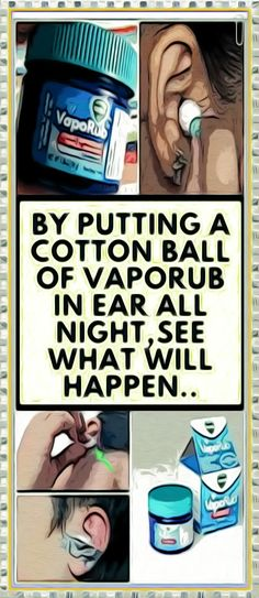 By Putting A Cotton Ball Of VapoRub In Ear All Night,See What Will Happen.. Health And Wellness Quotes, Health And Fitness Articles, Health Tips For Women, Health And Wellbeing, Natural Remedies For Migraines, Natural Health Remedies, Fitness Workout For Women, Fitness App, Healthy Detox