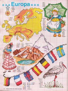 Gallery.ru / Photo # 21 - ENCICLOPEDIA ITALIANA 3 - KIM-2 Free Cross Stitch Charts, Cute Cross Stitch, Cross Stitch Borders, Cross Stitch Designs, Cross Stitching, Cross Stitch Embroidery, Cross Stitch Patterns, Blackwork Patterns, Embroidery Patterns