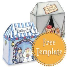 Tent Template http://stampington.com/the-studio/tempting-templates/free-tempting-template-Tent