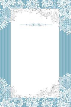 Blue Background Stripe Pattern Frame