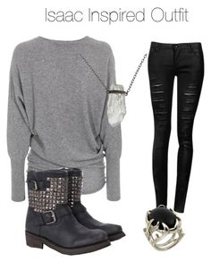 Teen Wolf - Isaac Inspired Outfit by stardustonthepiano on Polyvore featuring SLY 010 and House of Harlow 1960