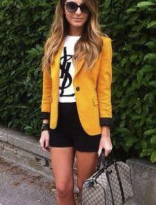 Mustard blazer.