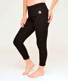 Another great find on #zulily! Black Extreme Cinch-Back Leggings #zulilyfinds