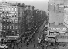 Delancey Street, Orchard Street, NYC.1939.