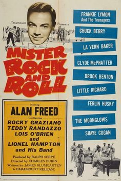 """MISTER (MR.) ROCK AND ROLL 1957  U.S. film. Excellent quality. 4:3 aspect ratio. Alan Freed is """"Mr. Rock and Roll"""" as he sets out to prove that rock 'n' roll doesn't cause juvenile delinquency. Terrific original rock 'n' roll legends perform their classics!   Chuck Berry, Little Richard, Frankie Lymon and The Teenagers, The Moonglows, Lavern Baker, Teddy Randazzo, Clyde McPhatter, Brook Benton. Many others. Classic 1950s rock & roll."""