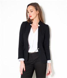 Veste tailleur femme, veste en jean, blouson court - Camaieu