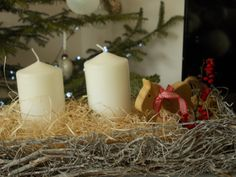 DIY christmas decor Diy Christmas, Christmas Decorations, Pillar Candles, Christmas Decor, Ornaments, Christmas Baubles, Christmas Ornaments, Nativity Ornaments, Christmas Jewelry
