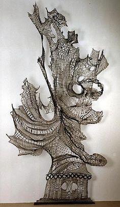 thread work re meredith    bobbin lace!! Artist anyone?
