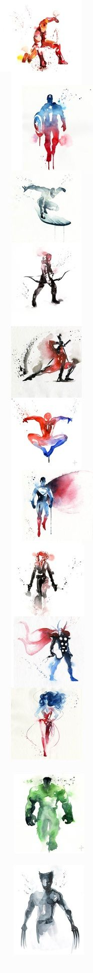 Cool Superheroes Art     (Yeah, i know, it's not completely Marvel but i have no where else to put it.)