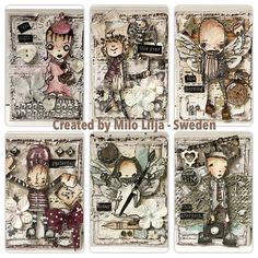 ATC cards theme: Change body parts. Created by MiloLilja - Sweden Instagram…