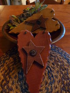 Wood Hearts - Primitive Crafts