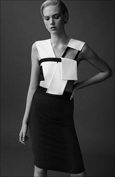 Minimalist and modern. Black and white. Geometric.